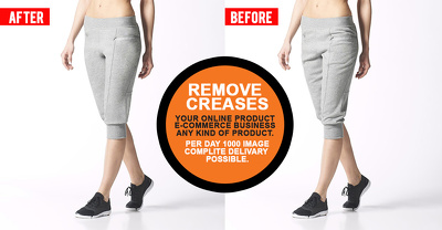 Do remove creases your  10 photo Images for E-Commerce Website or online shop