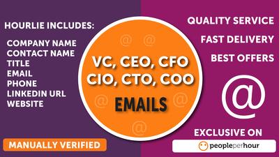 Find CEO,CFO, Director, Email, Phone, Website from Linkdin & Google upto 100 Leads