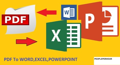 Convert PDF to Word, Excel, PowerPoint and Image to Text