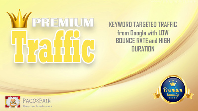 KEYWORD TARGETED TRAFFIC from Google with LOW BOUNCE RATE and HIGH DURATION