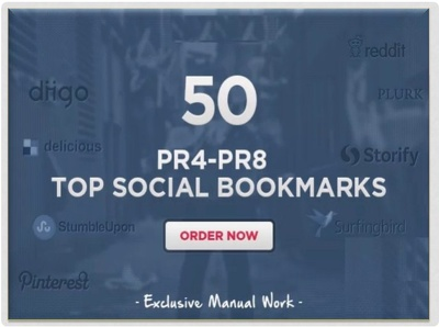 Manually  add 50 Social Bookmarking Backlinks
