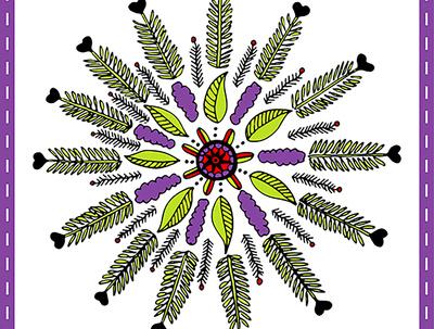 Create a hand drawn intricate Mandala design