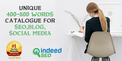 unique 400-500 WordS catalogue For SEO Blog Post Social Media