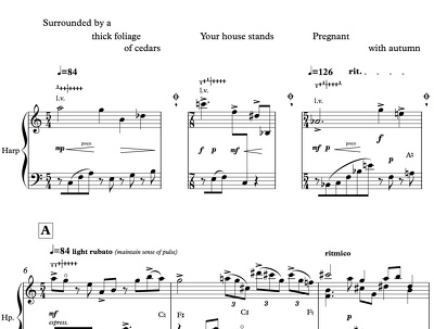 Edit three A4 pages of music (staff size 6 +)