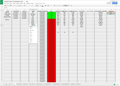 Develop Google Spreadsheet