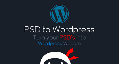 Convert your 5 pages PSD to wordpress website