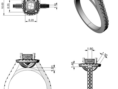 Create production ready CAD models from jewellery designs