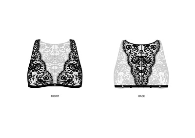 Create beautiful technical drawings for your lingerie design