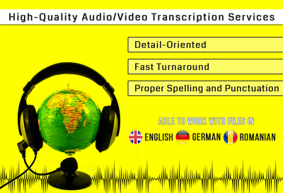 Transcribe one hour of audio/video recording