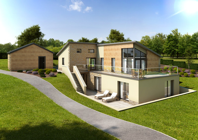 Visualize your home, realistic 3D architectural render: industry pro!