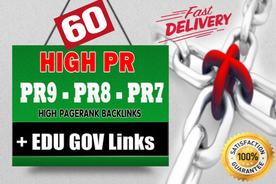 Manually build 60 high pr backlinks with high trust flow