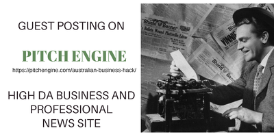 Guest Post on Pitch Engine - High DA Link Building