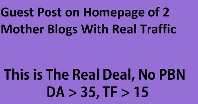 Guest post on 2 Premium Mother Blogs With Real Traffic