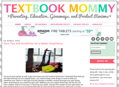 Guest post on mommy blog TextbookMommy.com DA 25