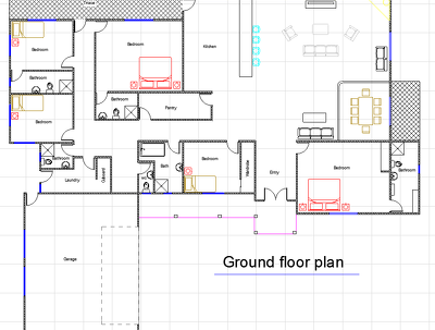 Design your 3D floor plan using 3Ds Max or Sketchup