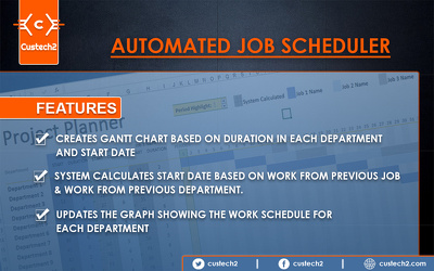 Provide you an automated Job Scheduler Template in spreadsheet