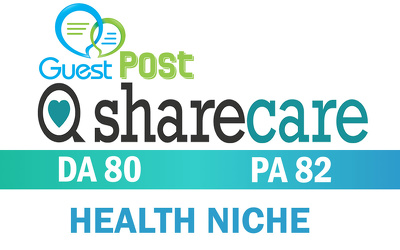 Write & publish on ShareCare Health Niche Website DA80 PA82