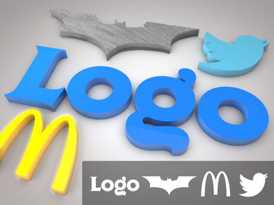 Model your 2D logo in 3D