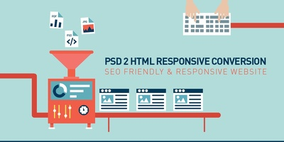 Convert PSD file to responsive HTML pages for any type of website