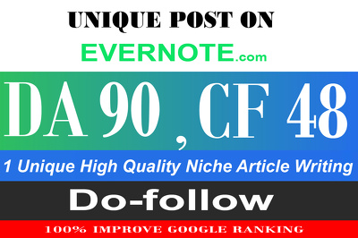 "Publish on ""Evernote.com"" Guest Post With High DA-90"
