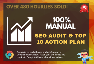 100% manual SEO website audit - fix all errors
