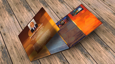 I can design for you a unique, elegant, eye-catching brochure/booklet