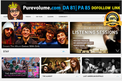 Write and publish a guest post on purevolume.com (DA81, PA 85)