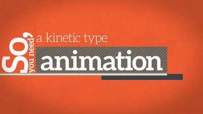 Create a Kinetic Type animation