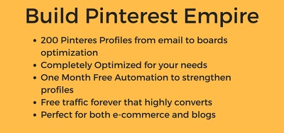 Create, optimize & automate 200 Pinterest accounts