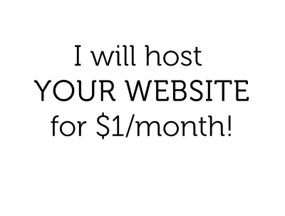 Host your website for 1 month with free transfer and setup!*