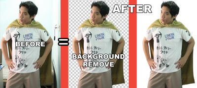Remove image backgrounds from your 20 photos