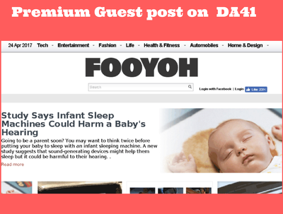 Publish a guest post on premium site fooyoh.com (DA 41) Ahrefs Domain Rating (DR 55)