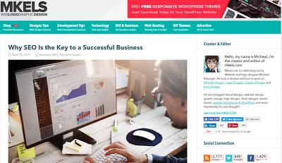 Guest post on Mkels.com SEO/Web Design/Online Marketing Niche DA 38