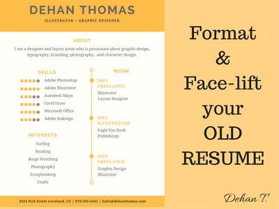 Format and make your old resume more appealing