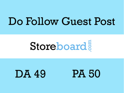Publish a guest post on Storeboard with dofollow link