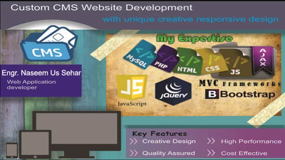 Develop Custom CMS Website using php