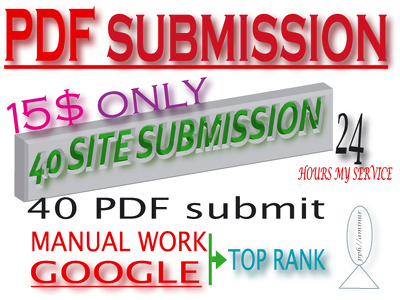 Do Submit PDF Submission To 40 Document Sharing Sites