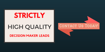 Find 300 Decision Maker Leads for HIGH quality Sales Generation