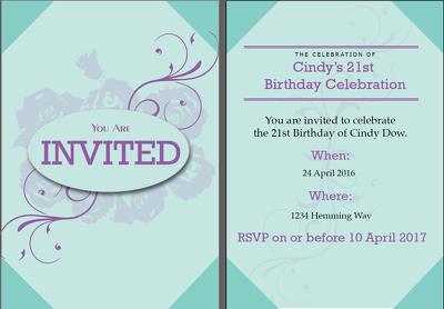 Make wedding and party invitations