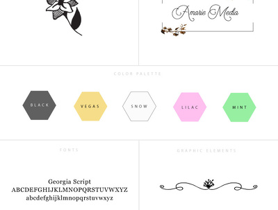 Create a branding board with all essential branding elements