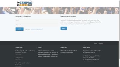 Build custom students social network website