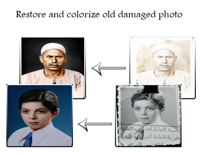 Restore and colorize old damaged photo