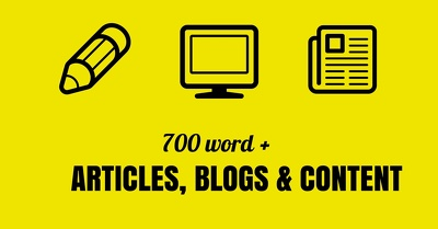 Write an article, blog or piece of content up to 700 words in length