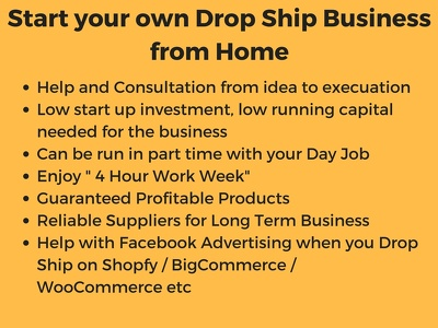 Help launch your drop shipping business on eBay, Amazon and Shopify