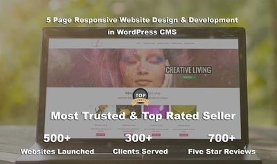 Top Selling 5 page responsive website design & development in Wordpress/CMS