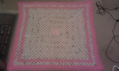 Crochet you a 30x30 baby blanket. Your colours.