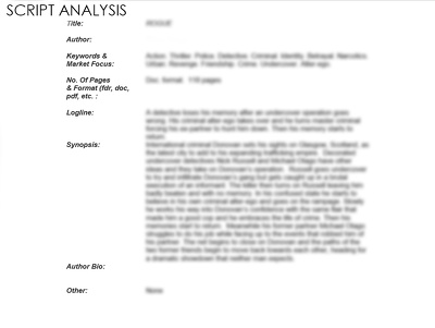 Analyze your feature film script/screenplay