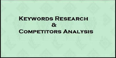 Do Professional Keywords Research And Competitors Analysis