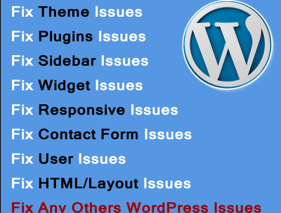 Fix , Repair , Customize Or Modify anything related to WORDPRESS Website error