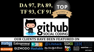 Write + Pubish Guest Post in software, programming, technology niche DA 97 GITHUB.com